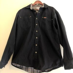 Carhartt tall button up flannel lined long sleeve